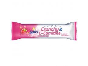 Active tyčinka crunchy l-carnitin malina 35 g